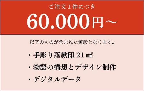 話印ご注文1件につき、60,000円~
